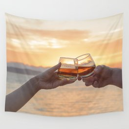 Romantic Evening Toast Wall Tapestry