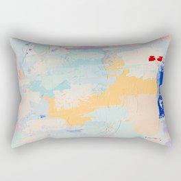 BUTTERCREAM BLUES 2 // ABSTRACT MIXED MEDIA ON CANVAS  Rectangular Pillow