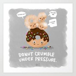 Donut Crumble Art Print