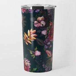 Autumn dark roses and florals Travel Mug