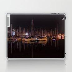 Swansea Marina at night. Laptop & iPad Skin