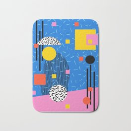 Crank - 80s retro throwback minimal abstract painting memphis style trendy vibes all day Bath Mat