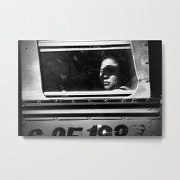 Woman on the Bus, Guatemala City. 2015 Metal Print