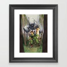 You hear something? Framed Art Print
