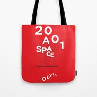 2001 a space odyssey Tote Bags featuring 2001: a space odyssey by Rodrigo Müller