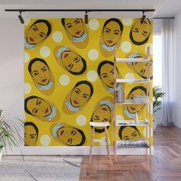 Yellow Ms. Adu Pattern Lover's Rock Wall Mural