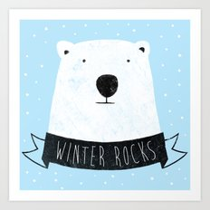 winter rocks Art Print