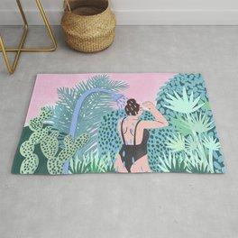 Jungle Babe Illustration Rug