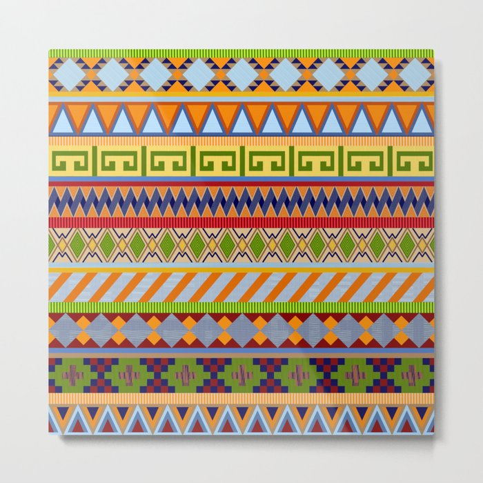 Tribal Aztec Patterns Metal Print