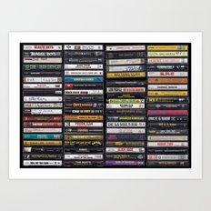 Old 80's & 90's Hip Hop Tapes Art Print
