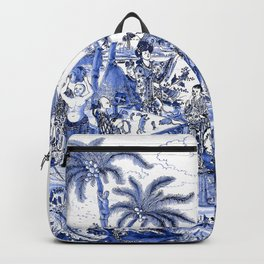 Chinoiserie Blue Landscape Backpack