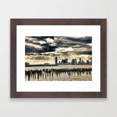 January On The Hudson Framed Art Print