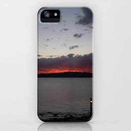 Sunset Over Taupo iPhone Case