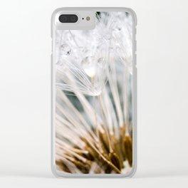Dandelion Dew Drops Clear iPhone Case