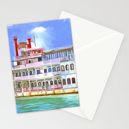 New Orleans Paddle Steamer Pop Art Stationery Cards