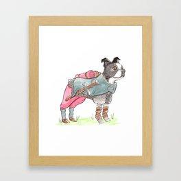 DogDays19 Vinny Framed Art Print