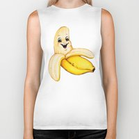 banana Biker Tanks featuring Banana by Kelly Gilleran