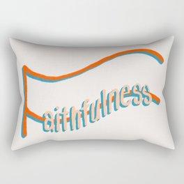 Fruit of the Spirit - Faithfulness, hand lettered art by Deb Jeffrey Rectangular Pillow