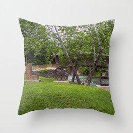 Lovework at the Humpback Bridge Throw Pillow