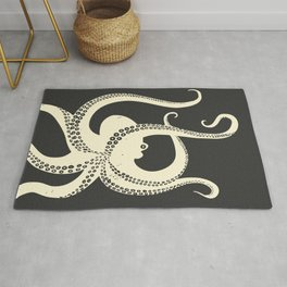 Octopus in black Rug