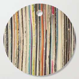 Record Collection Cutting Board