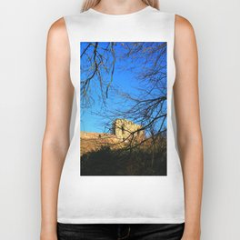 Castle Ruins on a Sunny Winters Day Biker Tank