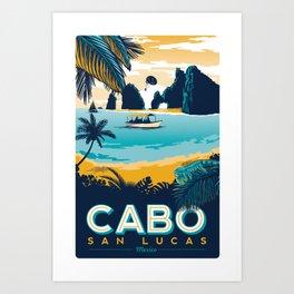 Cabo San Lucas Vintage travel poster Art Print