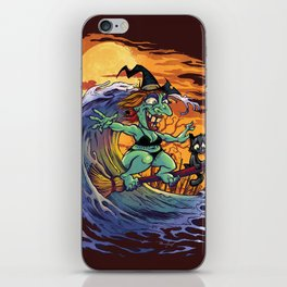 Witch At The Beach iPhone Skin