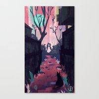 lovers Canvas Prints featuring Lovers by youcoucou