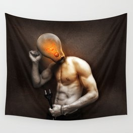 Glow Lamp Wall Tapestry