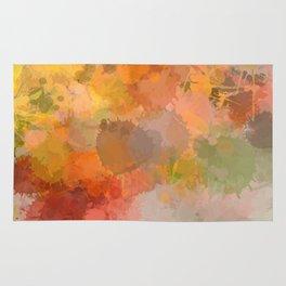Modern contemporary Yellow Orange Abstract Rug