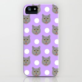 Kai - British shorthair cat gifts for cat lovers and cat lady gifts.  Cat people gifts iPhone Case