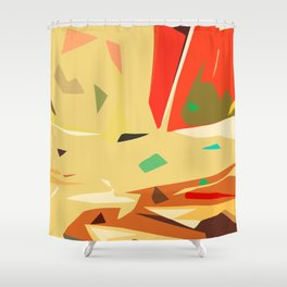 Desert of love Shower Curtain