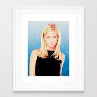 buffy the vampire slayer Framed Art Prints featuring Buffy the Vampire Slayer, Cross by Your Friend Elle