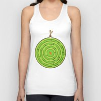 labyrinth Tank Tops featuring Labyrinth by KATUDESIGN