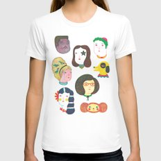 Heads Womens Fitted Tee White SMALL