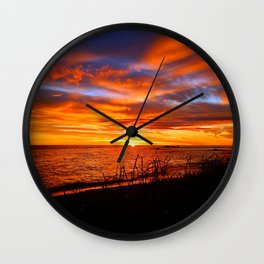 Spectacular Sunrise on the Saint-Lawrence Wall Clock