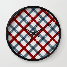 Colorful Geometric Strips Pattern - Kitchen Napkin Style Wall Clock