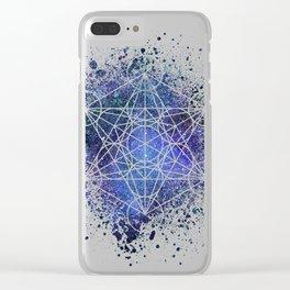 Metatron's Cube Clear iPhone Case