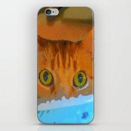 Sir Watson Tabby Digital Cat iPhone Skin