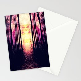 Path to Imagination : Mauve Pink Purple Stationery Cards