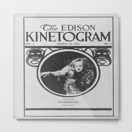 1910 Frankenstein Movie Program Metal Print