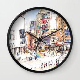 Ximen in Taipei city Wall Clock