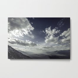 Owens Valley Light Metal Print