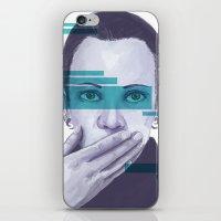 data iPhone & iPod Skins featuring Data Stream by Haily Gwynn Shaw