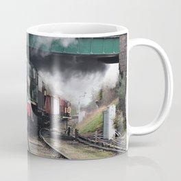 Vintage Steam Railway Train at the Station Coffee Mug