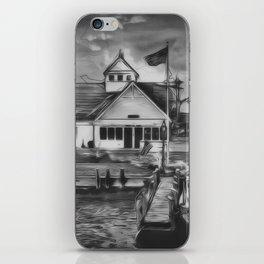 Coastguard Hyannis BW iPhone Skin
