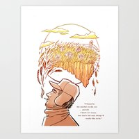 catcher in the rye Art Prints featuring Catcher in the Rye by Colleen Clark