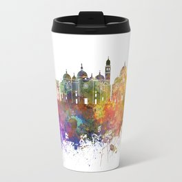Padua skyline in watercolor background Travel Mug