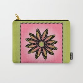 Pink Stitched Flower Carry-All Pouch